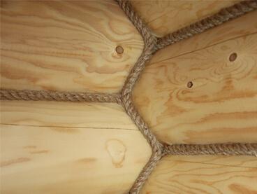 Декоративная отделка канатом, веревкой