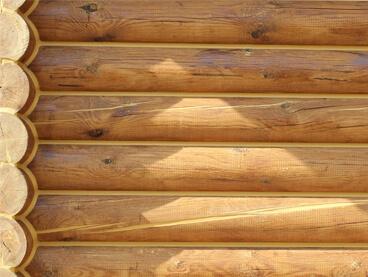 Устранение трещин и щелей в брёвнах